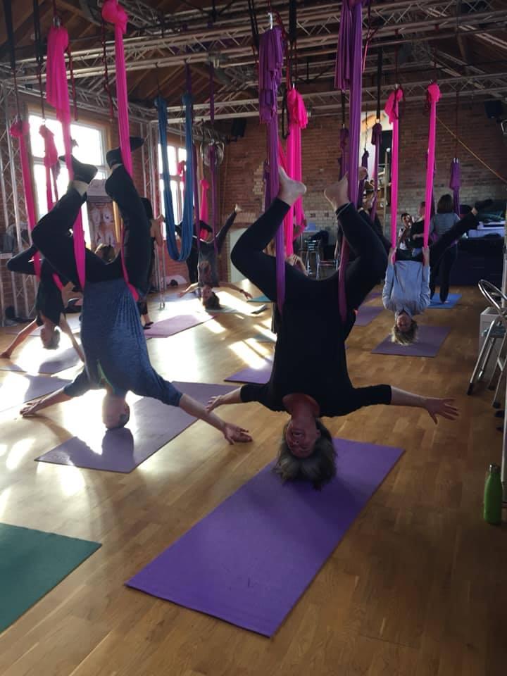 Aerial attic Yoga